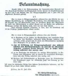 1914-08-01 - 3 Bekanntmachung Heitland