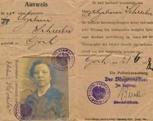 AusweisHelene Schreiber1918a