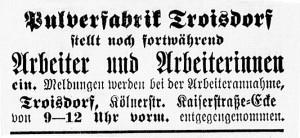 19141118_AnzeigePulverfabrik