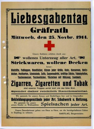 1914_11_25_LiebesgabentagPlakatGräfrath_Dok neu scannen G523