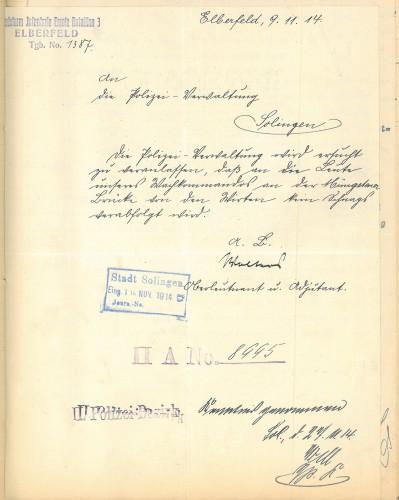 aus S 5700_1914.11.09_Verbot von Schnapsverkauf Müngsten