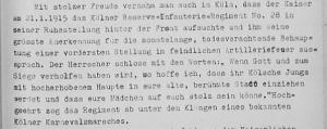 Kaiserbesuch Januar 1915