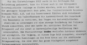 Karnevalstage 1915