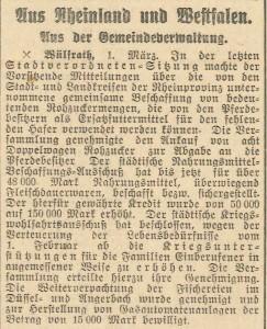 1.3.1915 Wülfrath Haferersatz 1