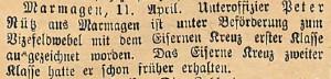 14041915Eiserneskreuz1klasse
