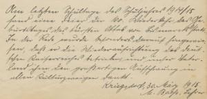 19150330_SchulchronikKriegsdorf_B396_S85_BismarckGeburtstag
