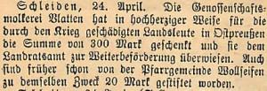 26061915SpendefürzivileOpferinOstpreußen