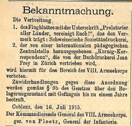 11081915 proletarier Flugblatt