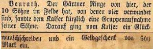 12081916 Kaiserglückwünsche