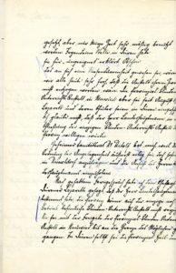 Victor Baldus' Schreiben Seite 1 Verso
