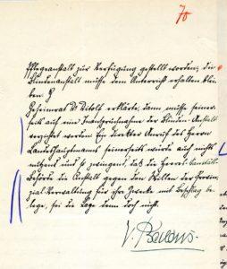 Victor Baldus' Schreiben Seite 2 Recto