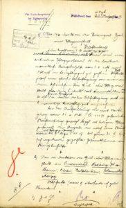 Entwurf des Antwortschreibens vom 04.09.1917