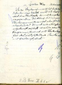 Rückseite des Schreibens
