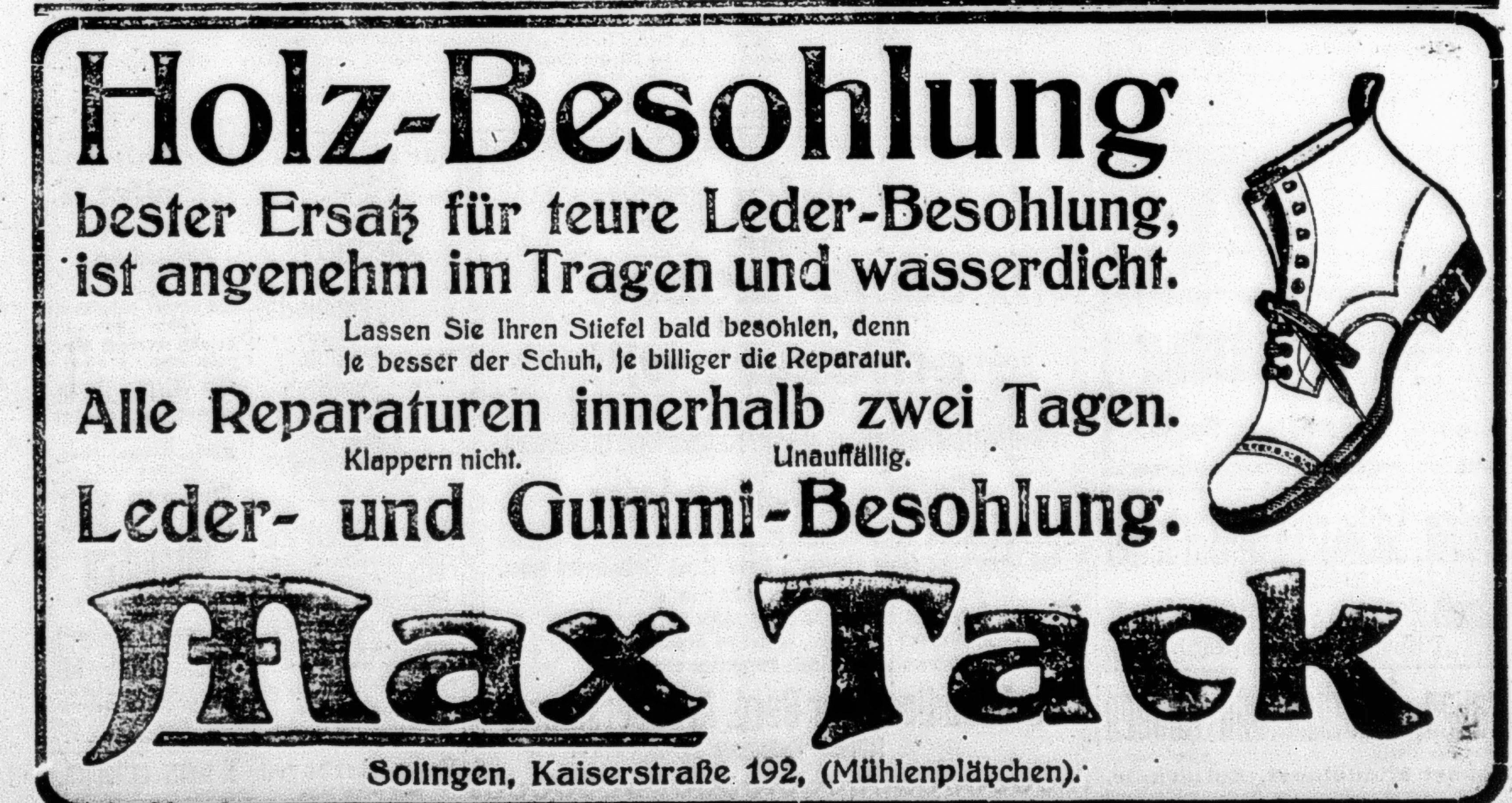 Schuhe | 1914 1918: Ein rheinisches Tagebuch | Seite 2